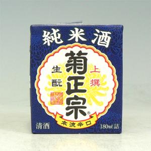 菊正宗 上撰 生もと純米 さけパック 180ml  [1780]