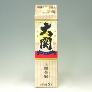 大関 上撰金冠 箱の酒 2L  [448]