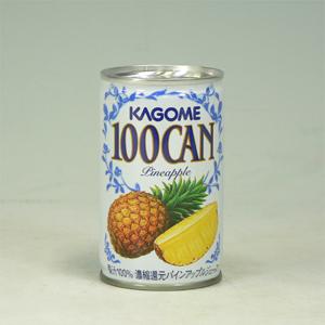 カゴメ 100パインアップル缶 160g  [4590]
