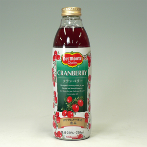 デルモンテ クランベリー 瓶 750ml  [4641]