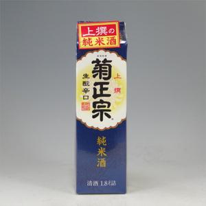 菊正宗 生もと辛口 純米パック 1800ml  [521]