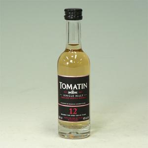 トマーチン 12年ウイスキー 50ml  [650349]