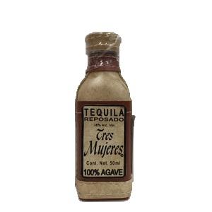 トレスムヘレス レポサド テキーラ 皮ボトル 38% ミニチュア 50ml  [654060]