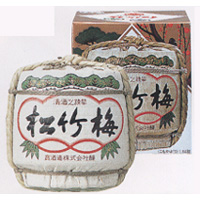 松竹梅 菰冠(コモカブリ)  化粧樽 1800ml  [710311]