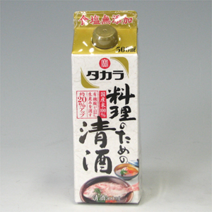 宝 料理のための清酒 パック 500ml  [71922]
