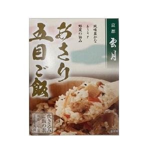 京都雲月 あさり五目ご飯の素 250g箱  [7813]