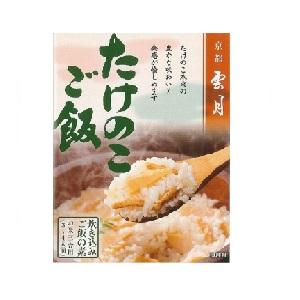 京都雲月 炊き込みご飯の素 たけのこご飯(三合用) 250g箱  [7913]