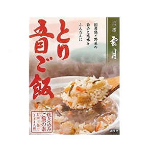 京都雲月 炊き込みご飯の素 とり五目ご飯(三合用) 250g箱  [7914]