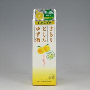 蝶矢 さらりとしたゆず酒 パック 1L   [80371]