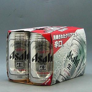 アサヒ スーパーDRY 350ml缶X6P  [862157]