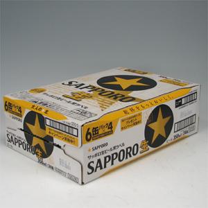サツポロ 黒ラベル 350ml缶X6P  [862258]