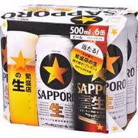 サツポロ 黒ラベル 500ml缶X6P  [862259]