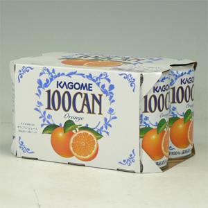 カゴメ 100%オレンジ 160g缶×6P  [864586]