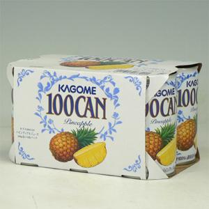 カゴメ 100%パイン 160g缶×6P  [864590]