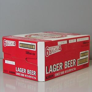 キリン ラガービール 500ml×6P  [872034]