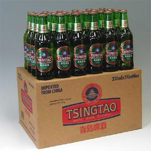青島碑酒チンタオビール瓶 330ml×24本P函入  [872447]