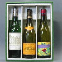 ワイン3本入り進物箱(布なし)  [925020]
